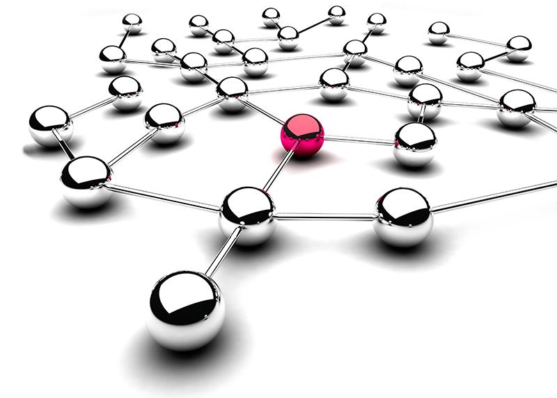 sfere metallo connesse